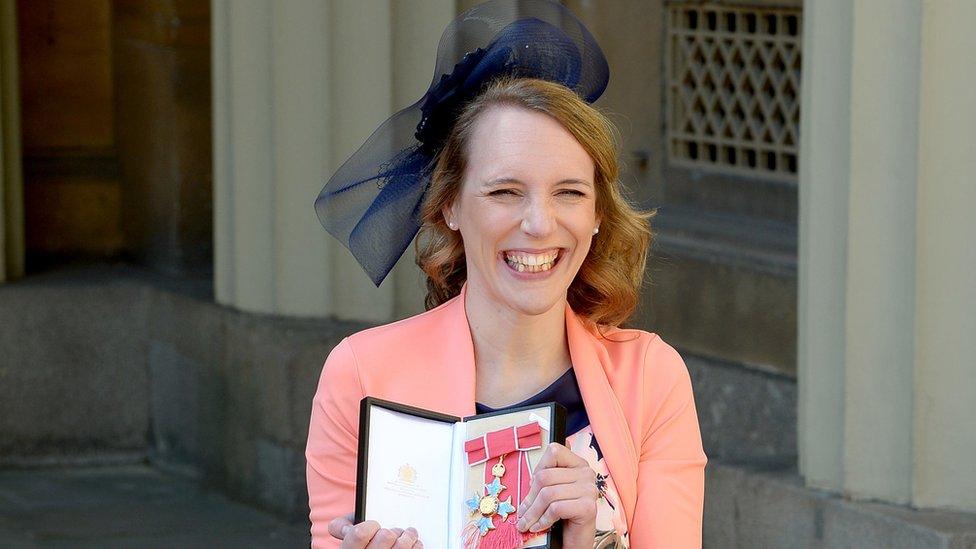 Para-equestrian Sophie Christiansen was awarded a CBE
