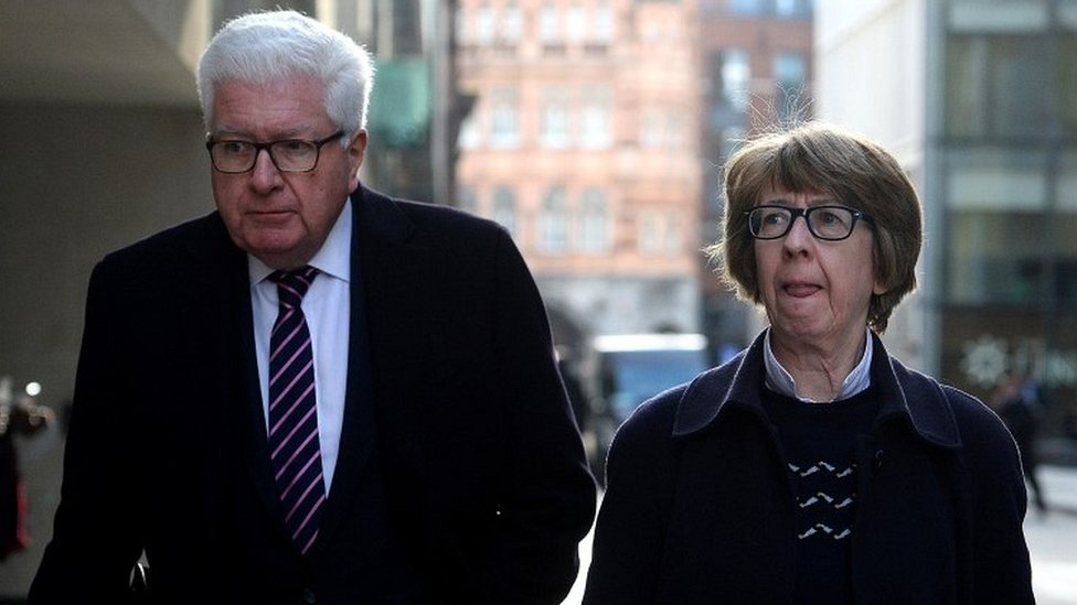 Former Conservative minister Nigel Waterson and Barbara Judge