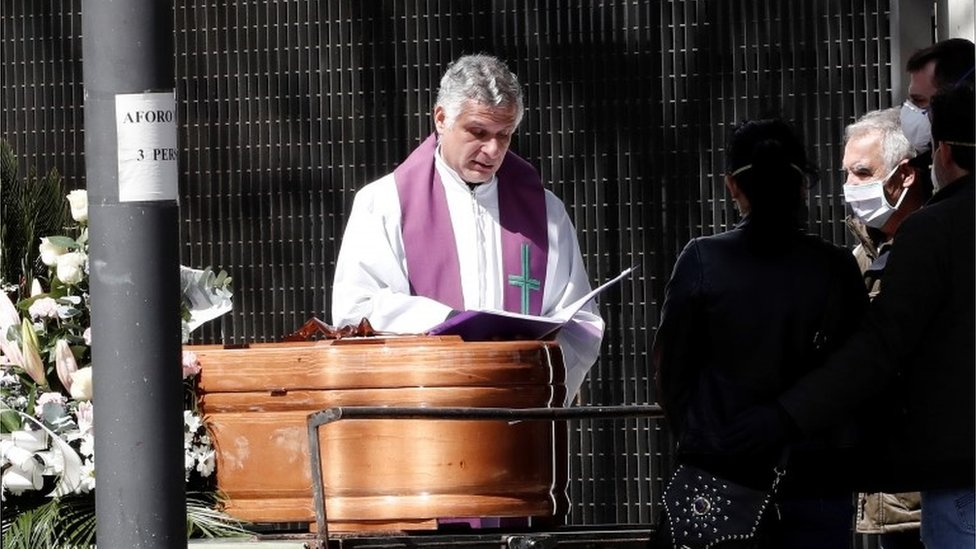 Funeral in Pamplona, Spain