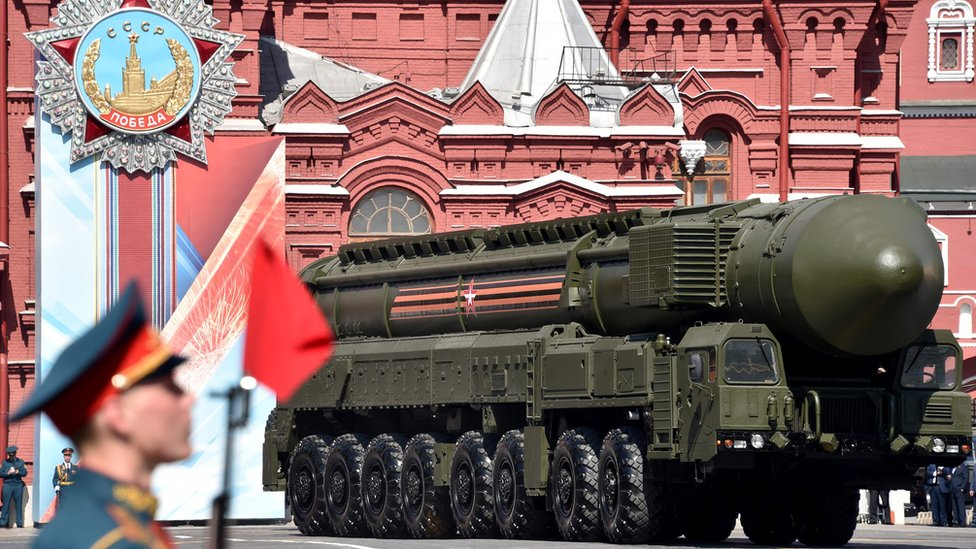 RS-24 Yars missile in Red Square, 9 May 16