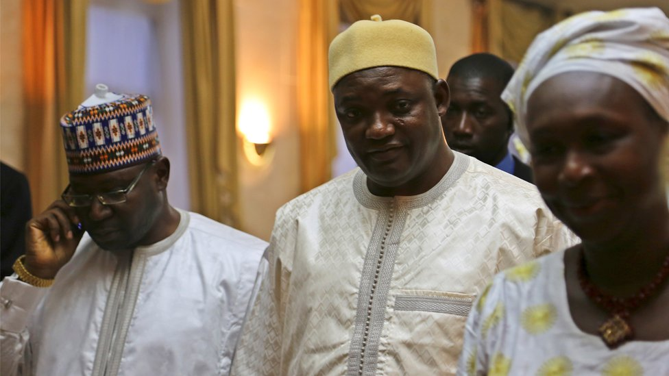 Gambia's President Adama Barrow is seen in Dakar, Senegal January 20, 2017