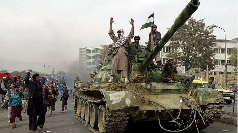 北方聯盟武裝佔領喀布爾