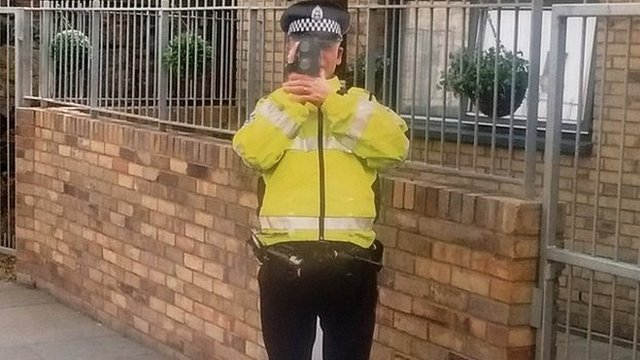 Life-size police cut-out stolen from Edinburgh street