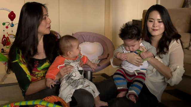Cindy and Lana with their son and daughter