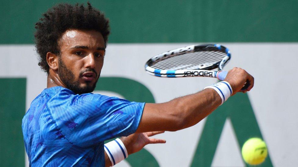 Tenista francés Maxime Hamou.