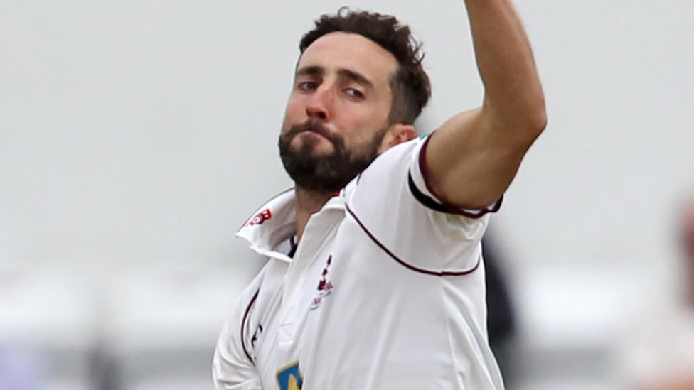 County Championship: Derbyshire fight back after Ben Sanderson's five-wicket haul