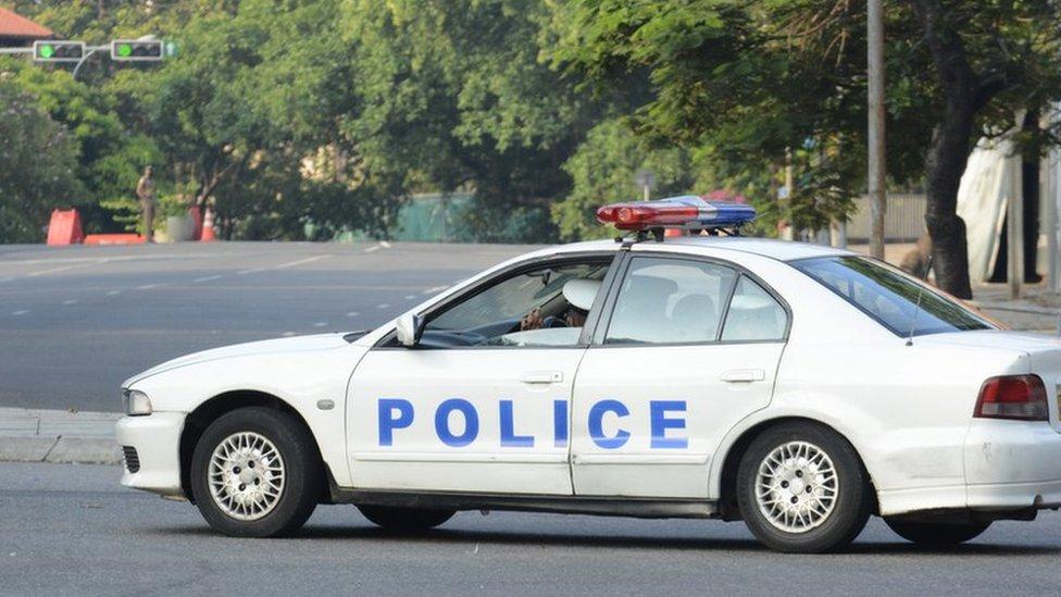 سيارة شرطة في سريلانكا
