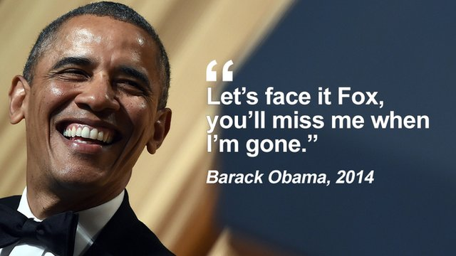 """Getty Images - Obama: """"Let's face it Fox, you'll miss me when I'm gone"""""""