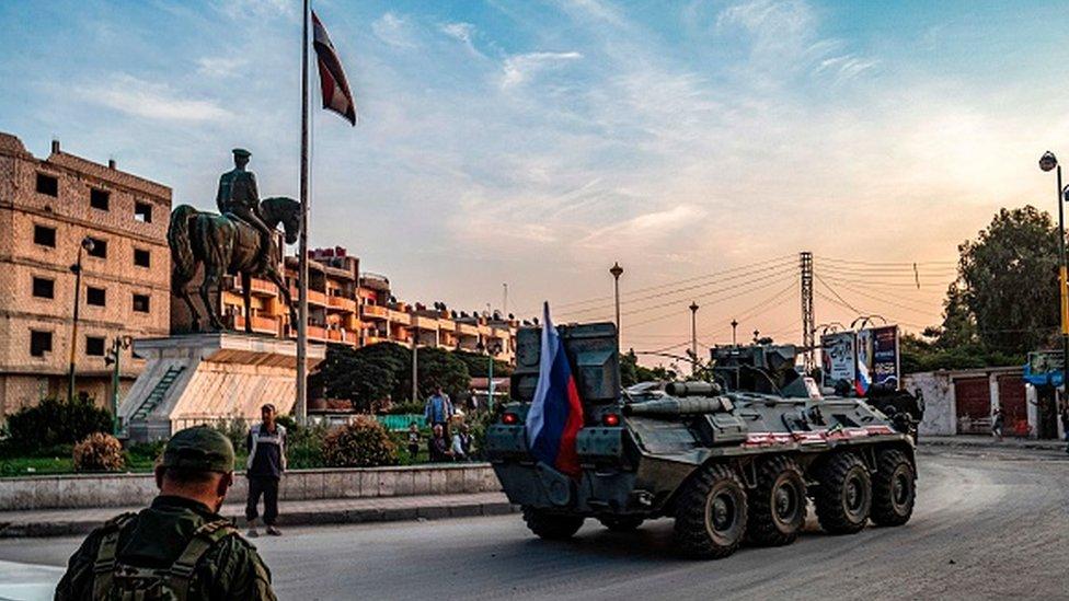Rus ordusu, ABD'nin çekildiği bölgelere Suriye ordusuyla birlikte girdi