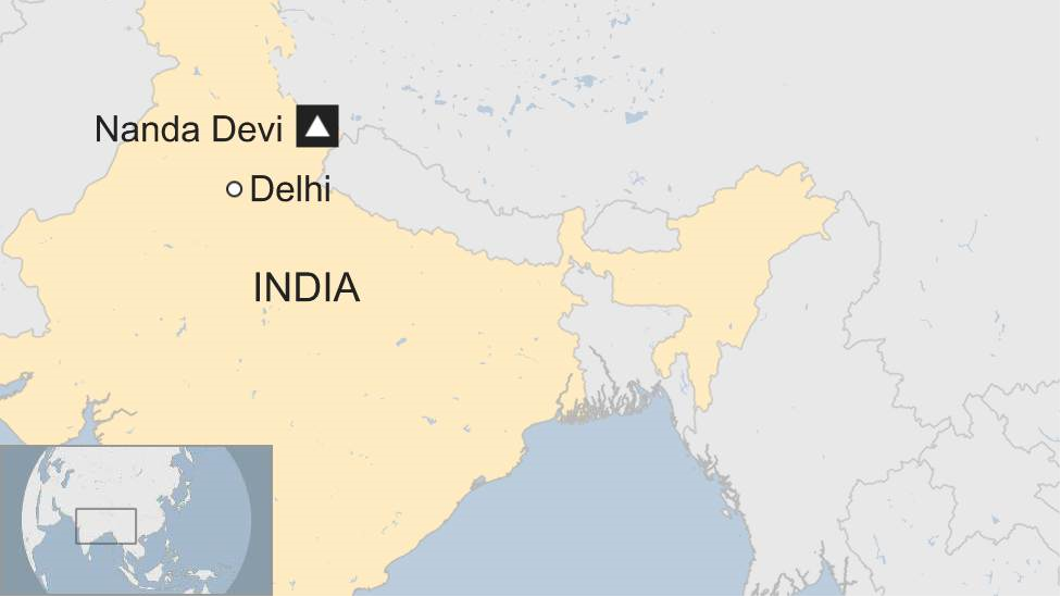 A map shows the location of Nanda Devi