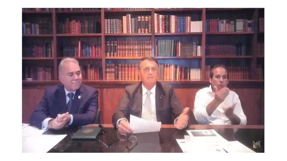Queiroga e Bolsonaro em live