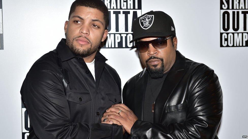 O'Shea Jackson Jr and Ice Cube