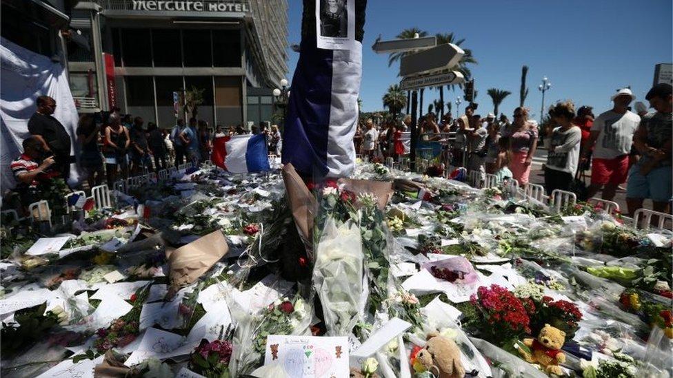 The scene in Nice on July 16 2016