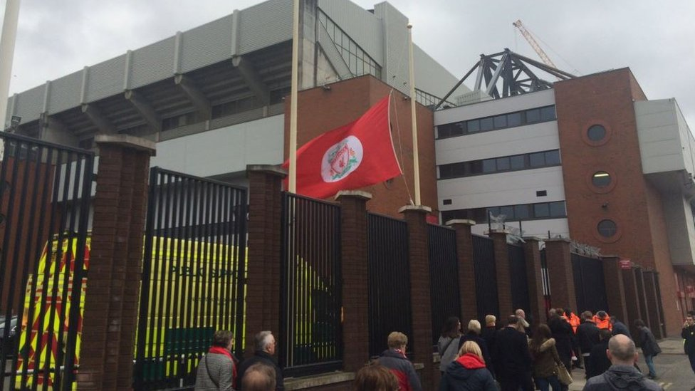 Flag at Anfield