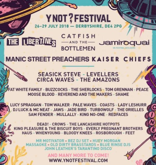 Y Not Festival line-up