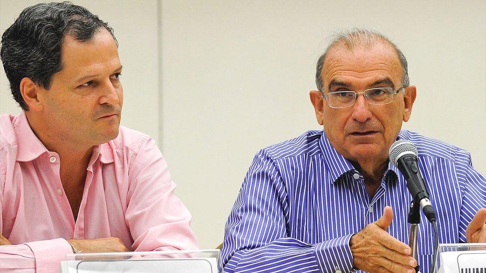 Sergio Jaramillo y Humberto de la Calle Lombana.