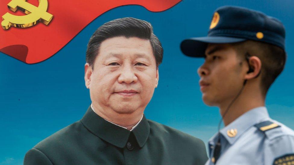 Xi Jinping en un poster.