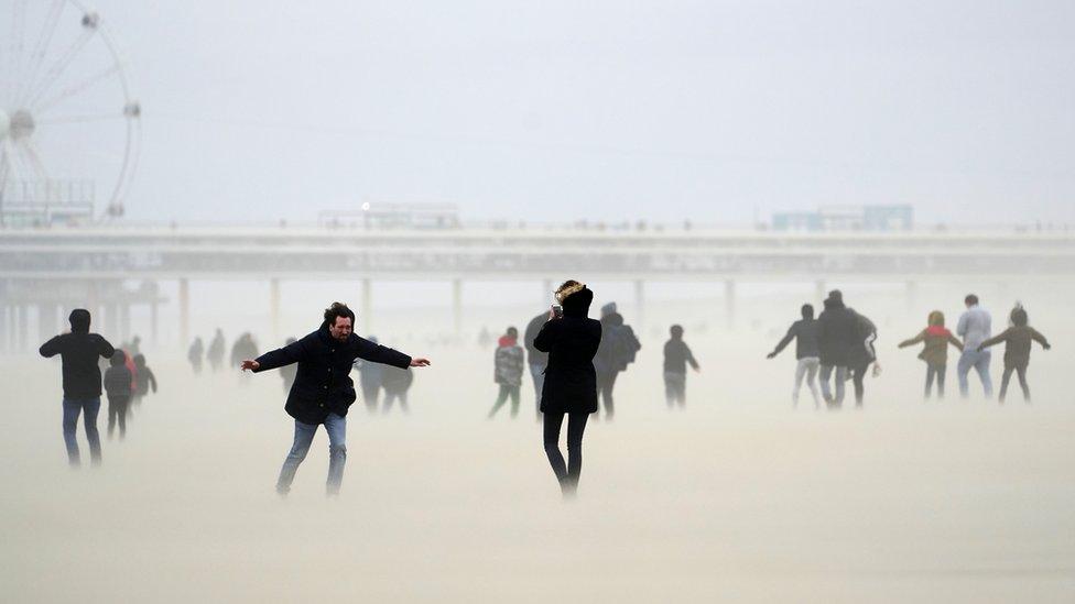 ljudi na plaži u ševeningenu