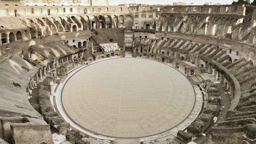 الطابق الجديد للمسرح الروماني