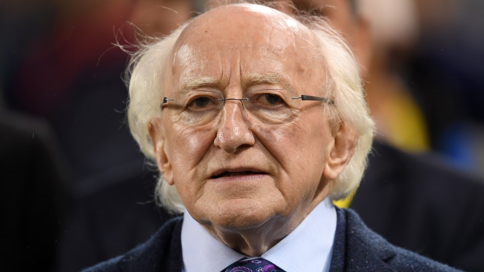 Michael D Higgins: Irish president says staff judge his security