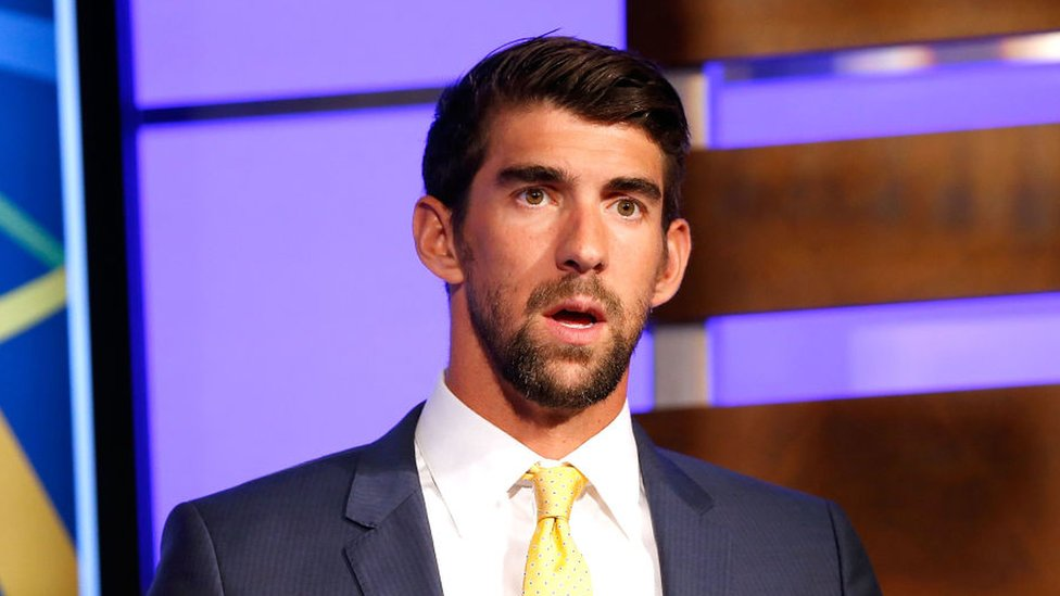 Michael Phelps habla durante el Día Nacional de Concienciación de la Salud Mental Infantil, Washington DC, 4 de mayo de 2017