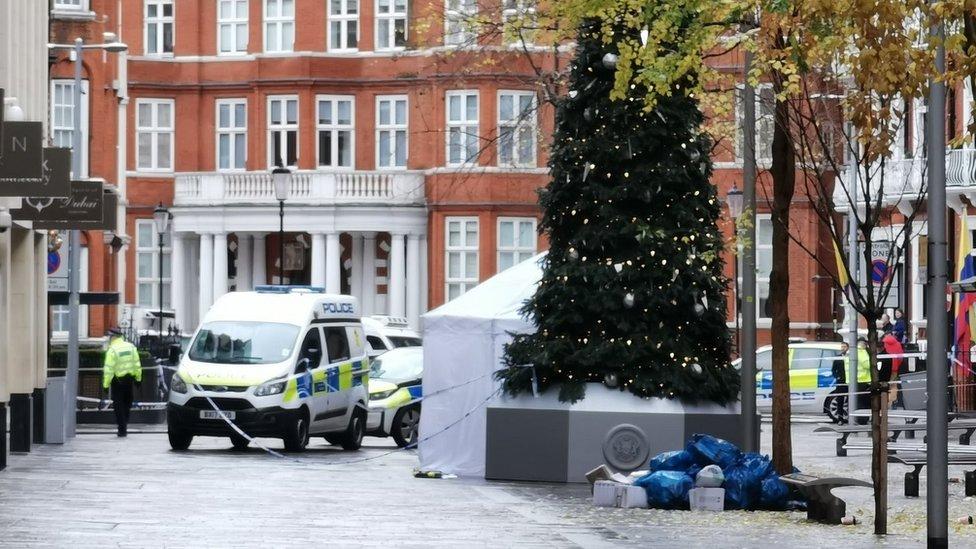 Police outside Harrods