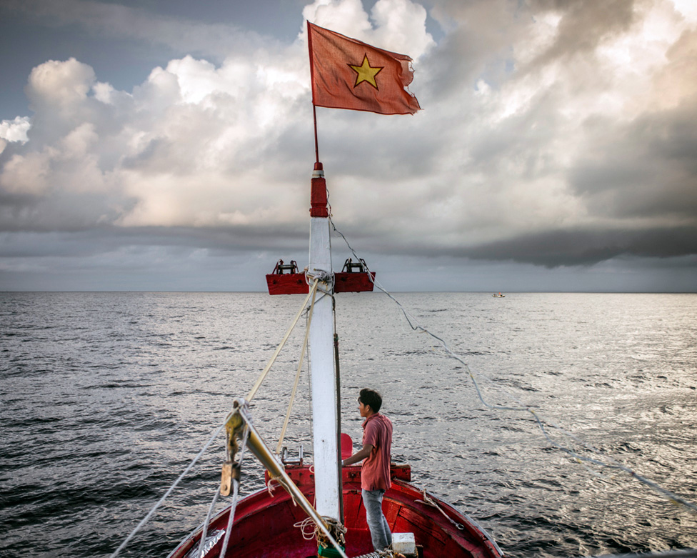 Vo Van Giau, 42, heading to South China Sea