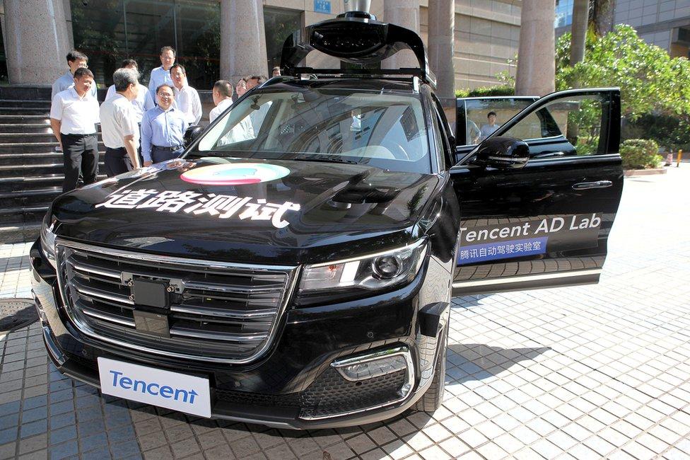 Tencent's self-driving car