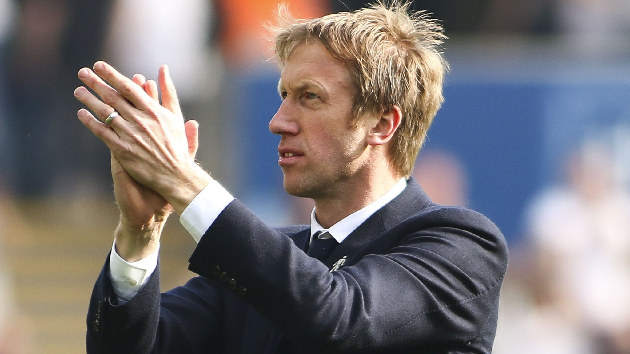 Graham Potter departs Swansea City for Brighton with a 'heavy heart'