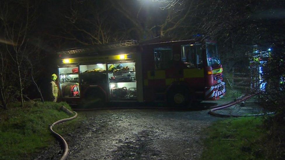 fire crew at Lammas eco village in Pembrokeshire