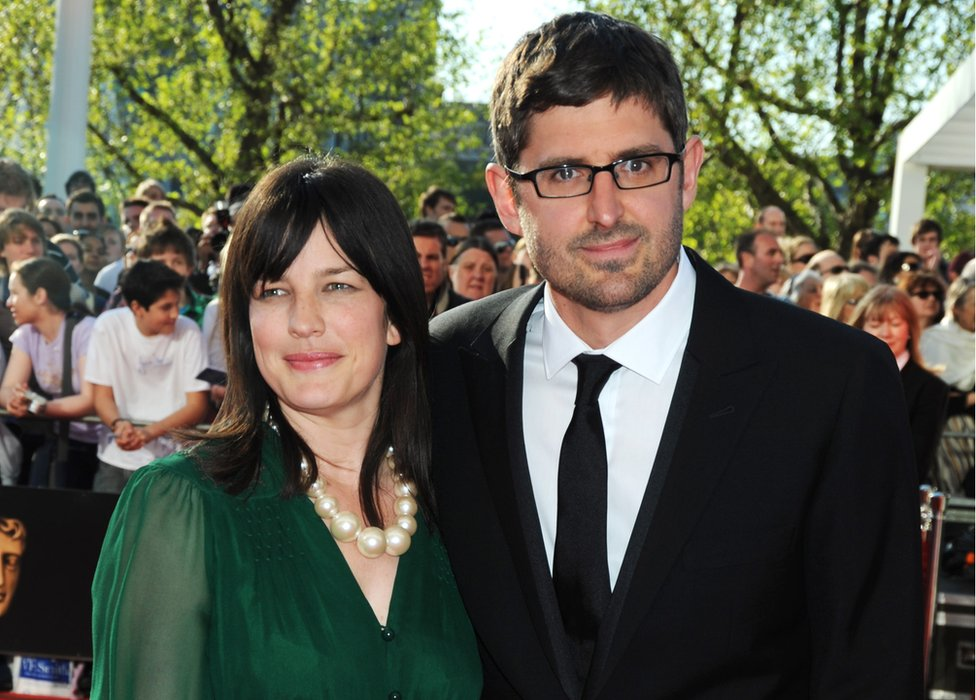 Louis Theroux and his wife Nancy Strang