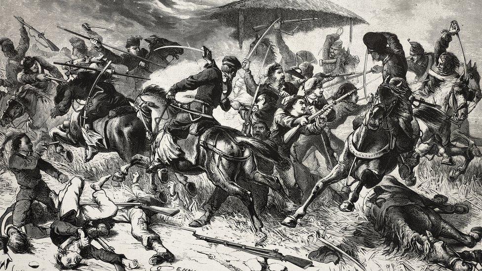 Grabado de la batalla de San Antonio de Salto