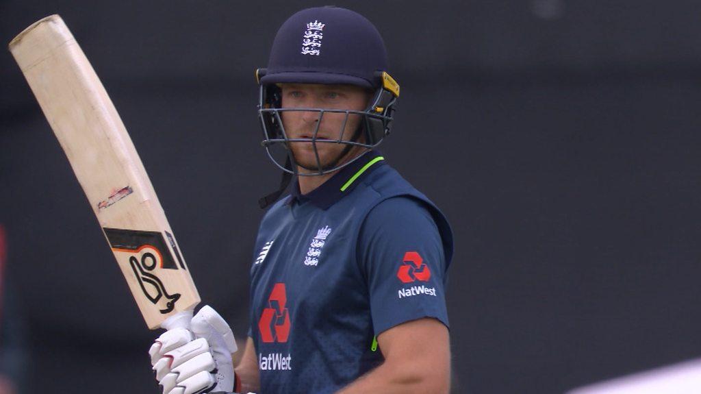 England v Australia: Jos Buttler hits ramp shot for huge six