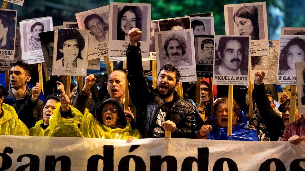 Manifestación en Uruguay