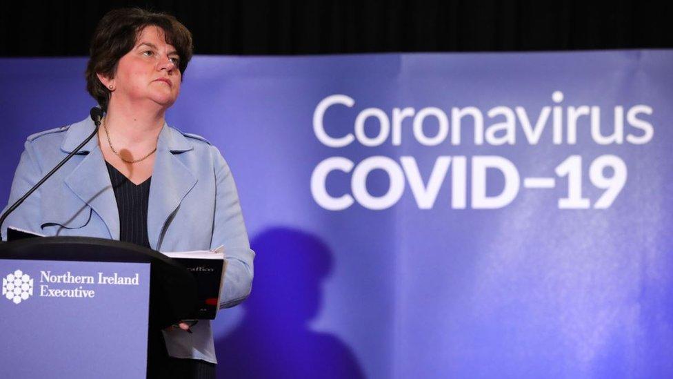 Arlene Foster at coronavirus briefing on 1 May