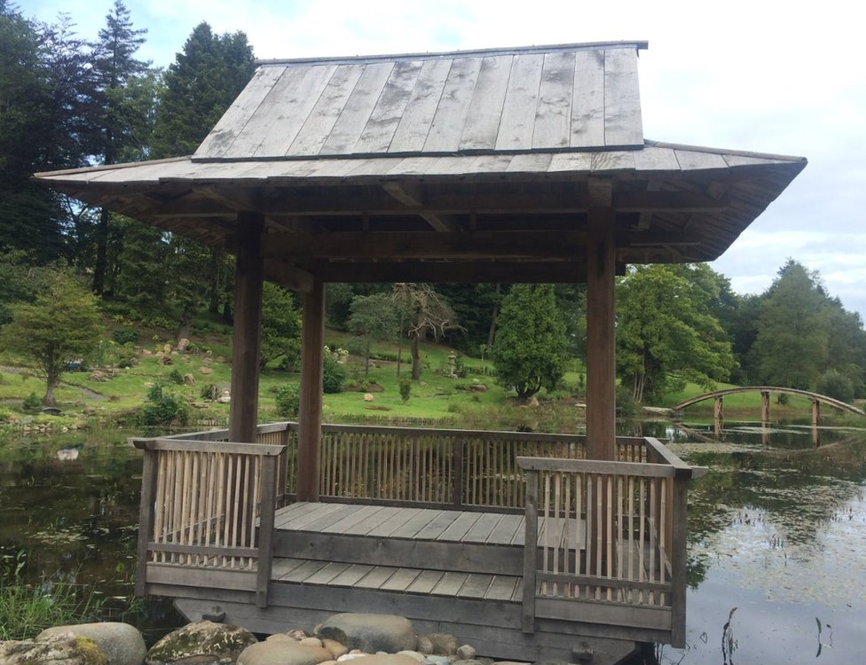Japanese garden at Cowden Castle