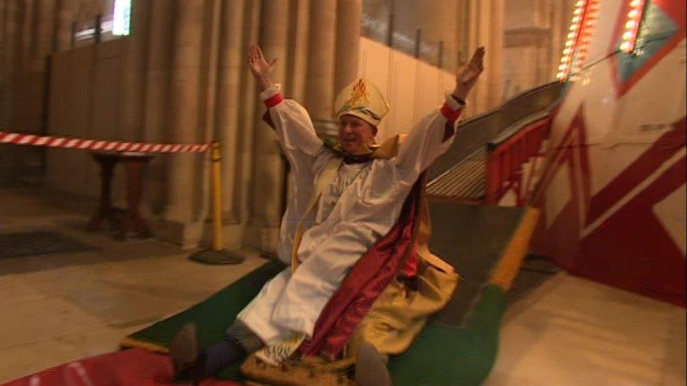 Bishop of Lynn on helter-skelter