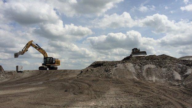 Whitemoss Landfill site in West Lancashire