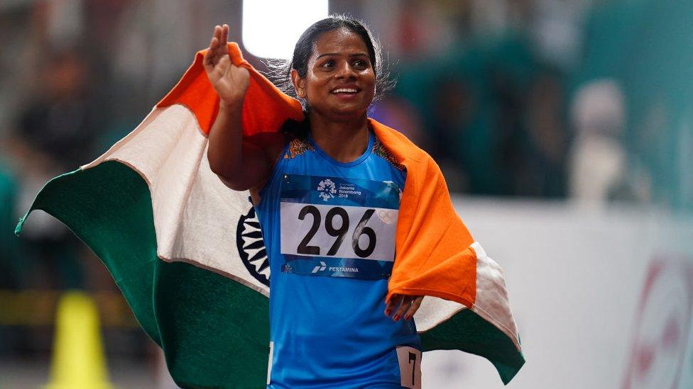 الهندية دوتي تشاند تخوض سباق 100 متر في دورة الألعاب الآسيوية ، 2018