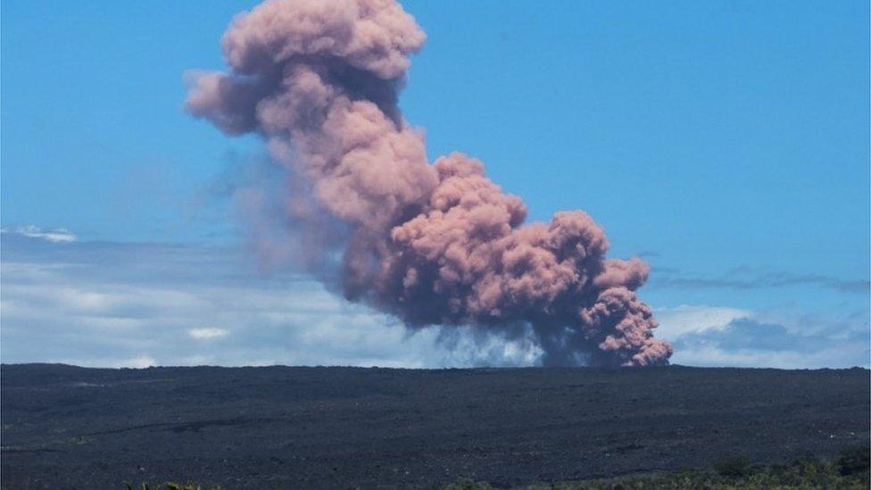 Monte Kilauea en Hawaii