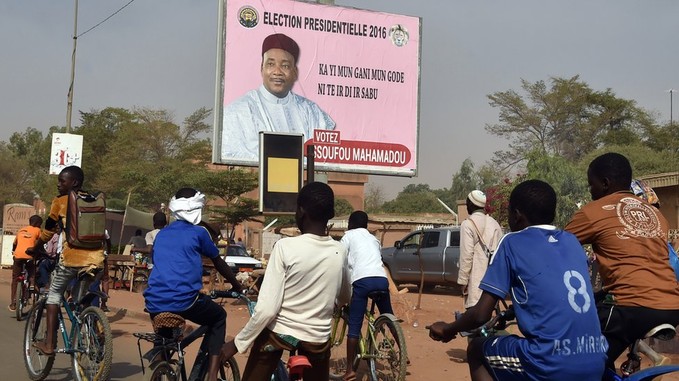 Campaign poster in Niger capital Niamey