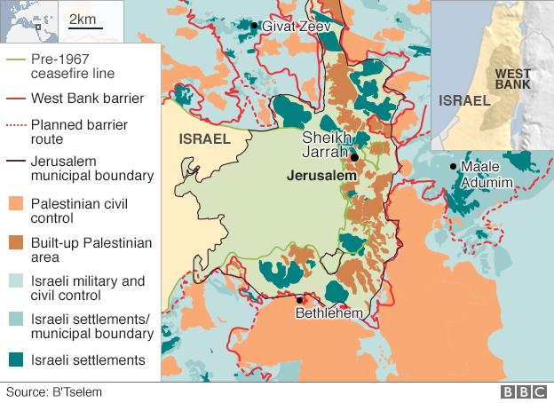 East Jerusalem map