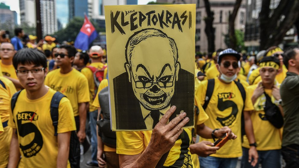 Protests against alleged government corruption hit the streets of Kuala Lumpur in 2016