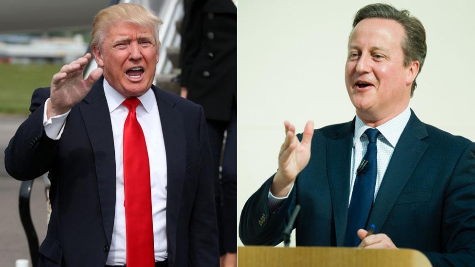 Donald Trump and David Cameron