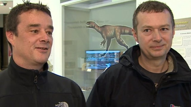 Dinosaur finders, brothers Nick and Rob Hanigan