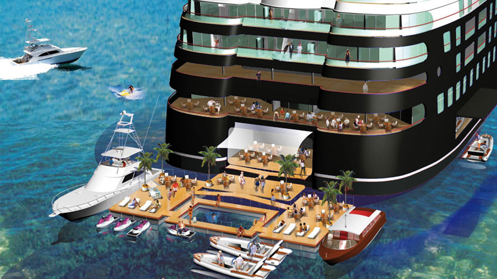Artist's impression of Quintessentially's super yacht