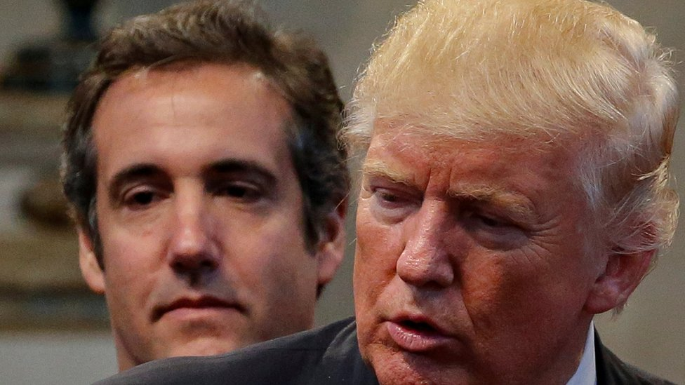Michael Cohen y Donald Trump