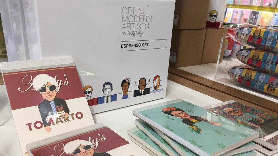 Merchandise in shop at Baltic Centre for Contemporary Art