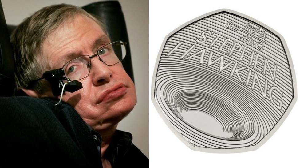 BBC News - Prof Stephen Hawking commemorated on new 50p coin