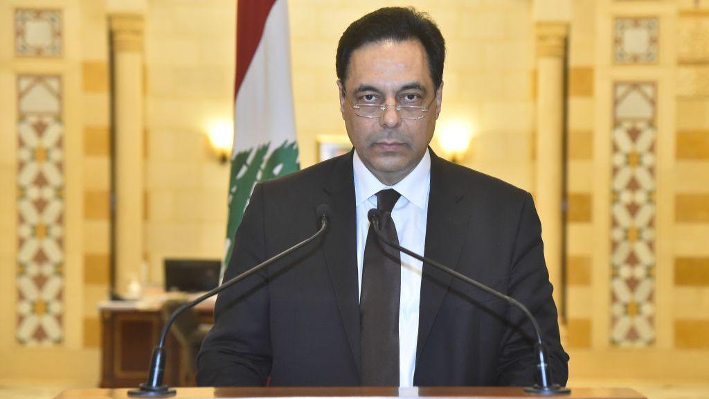 دياب يقود حكومة تصريف أعمال في لبنان
